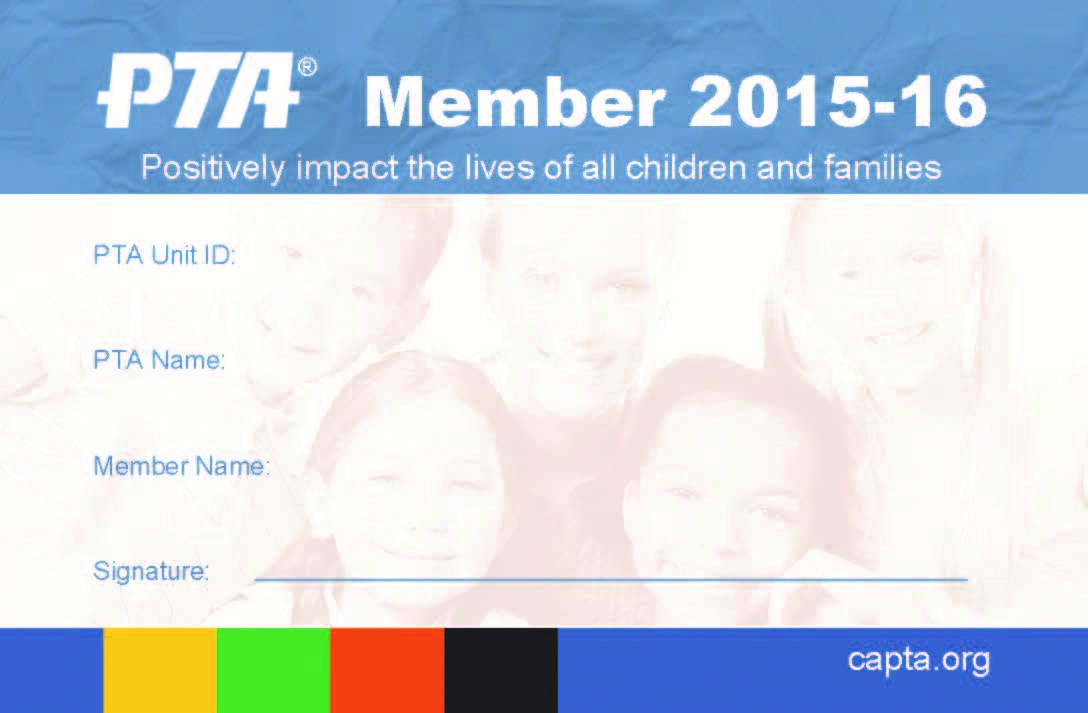 Updates 31st district ptsa for Pta membership card template